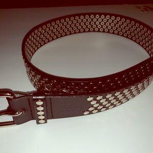 DKNY black studded belt